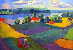 gabriele munter. | View of Esrum Lake (Gabriele Munter, 1918) by coolcanadagoose