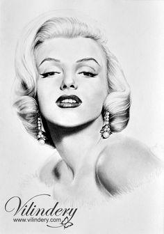 Marilyn Monroe - pencil drawing by vilindery