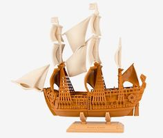You Can Now 3D Print Replicas of Historical Ships: From the Drakkar to the Endeavor http://3dprint.com/17441/makerbot-3d-printed-ships/