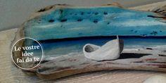 Con legno di recupero, quadretti fai da te. Per ricordare il mare