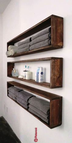 47 ideas of shelves for the home that you can make yourself The shelves right . - home accessories - 47 ideas of shelves for the house that you can make yourself The shelves right - deko ideen Diy Home Decor On A Budget, Decorating On A Budget, Diy Projects On A Budget, Diy Design, Diy Casa, Bathroom Organization, Bathroom Ideas, Budget Bathroom, Bathroom Towel Storage