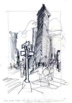 Urban Sketchers: Hurricane Sandy Power Outage in Manhattan