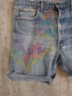 Distressed Vintage Boyfriend Jeans/Hipster Jeans/All Sizes/Grunge Jeans/boho/vintage jeans/womens jeans - upcycled Vintage Jeans, Boho Vintage, Grunge Jeans, Hipster Jeans, Diy Jeans, Redone Jeans, Mode Shorts, Visible Mending, Patched Jeans