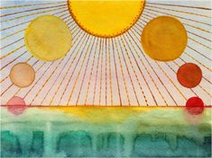 Solstice And Equinox, Summer Solstice, Cultural Events, Tarot Spreads, Watercolor And Ink, Faeries, Natural History, Illustration, Symbols