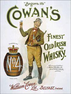 Cowans Irish Whiskey Metal Sign Retro BAR PUB DEN Decor Alcohol | eBay
