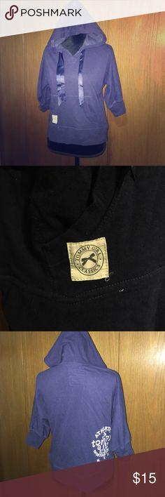 Tommy Girl Hoodie Tommy Girl hoodie sweater. Dark blue, lightweight, with slightly past elbow sleeves. Silk ribbon tie. ❤️❤️❤️ Tommy Hilfiger Tops Sweatshirts & Hoodies