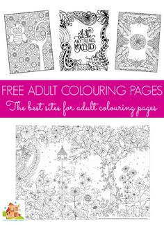 Free colouring pages for adults and teens.  Coloring in, has been proven to reduce stress in adults as well as children and there are some beautiful free adult coloring page printables available