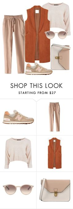 """Outfit"" by meloprea ❤ liked on Polyvore featuring New Balance, MANGO, Ray-Ban and 8"