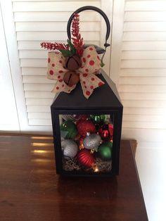 Holiday Lighted Lantern  by JKPDesignsLLC on Etsy
