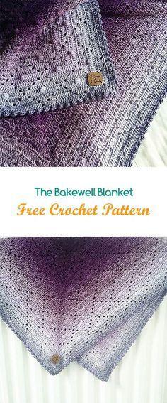 The Bakewell Blanket Free Crochet Pattern #crochet #yarn #crafts #home #homdecor #style