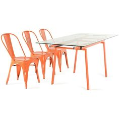 Modrest Linus Contemporary Glass Extendable Dining Table
