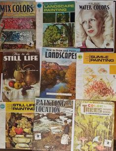 Lot of 10 Vintage Walter Foster Art Books- Sumi-E Landscape and Still Life Paint