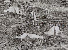 Sohei Nishino (Japon), Festival Images 2012 | Diorama Map - Berne Pour l'artiste, « une carte Diaorama est loin d'être une carte réaliste, elle est une trace de mon cheminement, une incarnation de ma conscience, un microcosme de la vie et de l'énergie comprises dans la ville. »