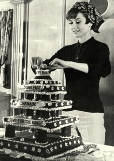 Audrey Hepburn with a cake. Thought I'd switch it up a little :)