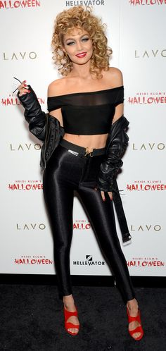 Gigi Hadid Was Sandy From Grease For Halloween — and Her Costume Was Absolutely Flawless