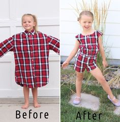 Mom Uses Husband's Old Shirts To Make Dresses For Her Daughters, And Result Is Amazing