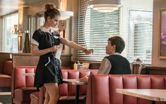 Lily James and Ansel Elgort in Baby Driver - Baby Driver Review