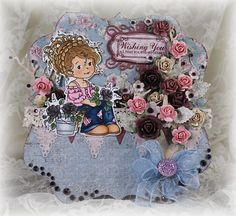 The base of the card is from The Hobby House and all those gorgeous embellishments too