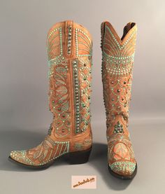 """INDEPENDENCE DAY SALES EVENT, save 20% on every pair of boots from July 1st through July 25th.  This is, KIPPY'S """"VICTORIA SPIKED"""", western boots by Lane Boots of Texas. A beautifully tanned full size boot embellished with Swarovski crystals reminiscent of ancient Egyptian naturalistic symbolism. Check us out, we have over 50 styles and are adding more all the time."""