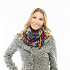 Loops & Threads® Opus™ Woven Cowl (Crochet) free pattern and easy