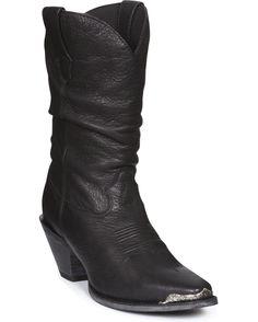 "Lu - Durango Women's 10"" Crush Sultry Slouch Boots - Midnight Black"