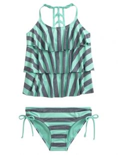 Stripe Tankini Swimsuit