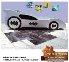 cama para niños tipo batimovil el carro de batman
