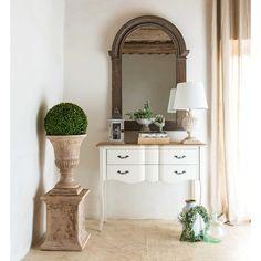 Consola con 2 cajones de pino blanco y paulonia | Maisons du Monde