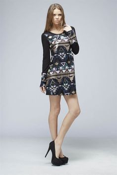 Tribal Sequined Holiday Dress