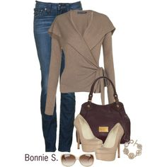 Polyvore Cardigan Outfits | fashion look from September 2012 featuring Ralph Lauren Blue Label ...