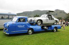 1954 Mercedes Benz Renntransporter & 1955 W194 Silver Arrow (Replicas)