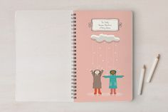Personalized notebook for kids that would make a great travel journal or camp journal.