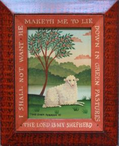 Sheep Art, Farm Art, Sheep And Lamb, Psalm 23, Arte Popular, Naive Art, Tole Painting, Christian Art, Pictures To Paint