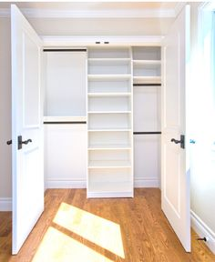 Great option for replacing sliding closet doors!  replace with oversized twin doors.  maybe even include glass windows depending on whats inside