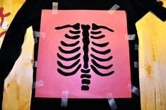 DIY Halloween Skeleton Baby Maternity Shirt - Apply