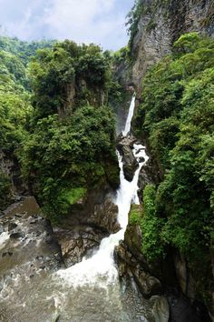 Pailon Del Diablo Waterfall in Baños Ecuador ~ Read about it at the GET LOST & BE FOUND and be ready for your next big travel adventure in South America!