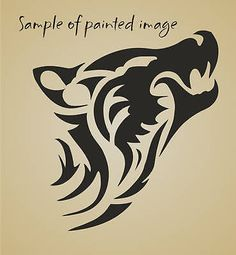Wolf-STENCIL-6-Zuni-Tribal-Animal-Wolve-Design-Southwestern-Tattoo-Art-U-Paint