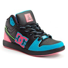 DC Shoe Co University Mid-Top Skate Shoes - Women ($40) ❤ liked on Polyvore