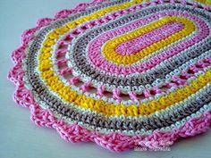 Tecendo Artes em Crochet: Kit de Descanso para Travessas!