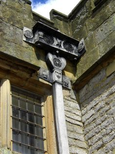 Drainpipe detail at Haddon Hall
