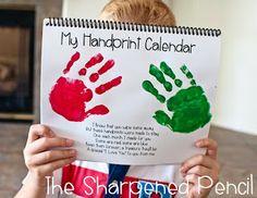 Handprint Calendars!  The Perfect Christmas Gift!  :)