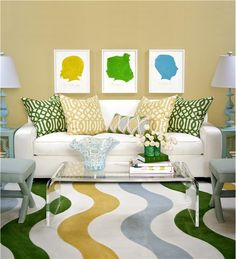 Contemporary (Modern, Retro) Living Room by Tobi Fairley