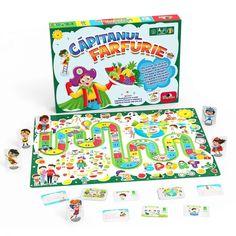 Joc educativ Noriel Games, Capitanul Farfurie   Noriel Snack Recipes, Snacks, Pinball, Pop Tarts, Packaging, Cabinet, Poster, Figurine, Snack Mix Recipes