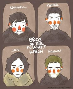 bros of the nights watch game of thrones