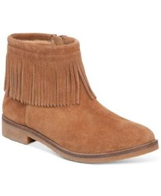 A more affordable version of the Joie fringed booties I've been coveting -- Lucky Brand Women's Galley Fringe Booties at Macy's