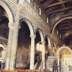 Loving the church inside San Miniato al Monte in Florence, Italy.