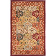 Shop for Safavieh Handmade Heritage Traditional Bakhtiari Multi/Red Wool Area Rug (3' x 5'). Get free shipping at Overstock.com - Your Online Home Decor Outlet Store! Get 5% in rewards with Club O!