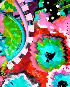 Merida Courtyard Art Print – Artist Melanie Birk, www.bluethistlearts.com