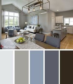 Morr Interiors provides interior design services out of Exeter, NH. Our consultants work with you to help you redesign or stage your home or business. Interior Paint Colors For Living Room, Living Room Color Schemes, Living Room Grey, Home Living Room, Living Room Designs, Living Room Decor, Livingroom Color Ideas, Grey Living Room Ideas Colour Palettes, Gray Color Schemes