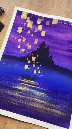 Watercolor Art Lessons, Watercolor Video, Watercolor Painting Techniques, Watercolor Canvas, Acrylic Painting Canvas, Watercolour, Watercolor Paintings, Easy Canvas Art, Mini Canvas Art